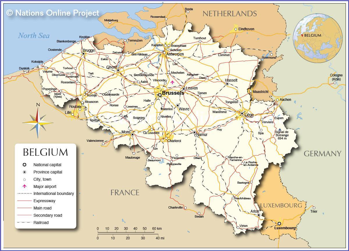 kort over lande
